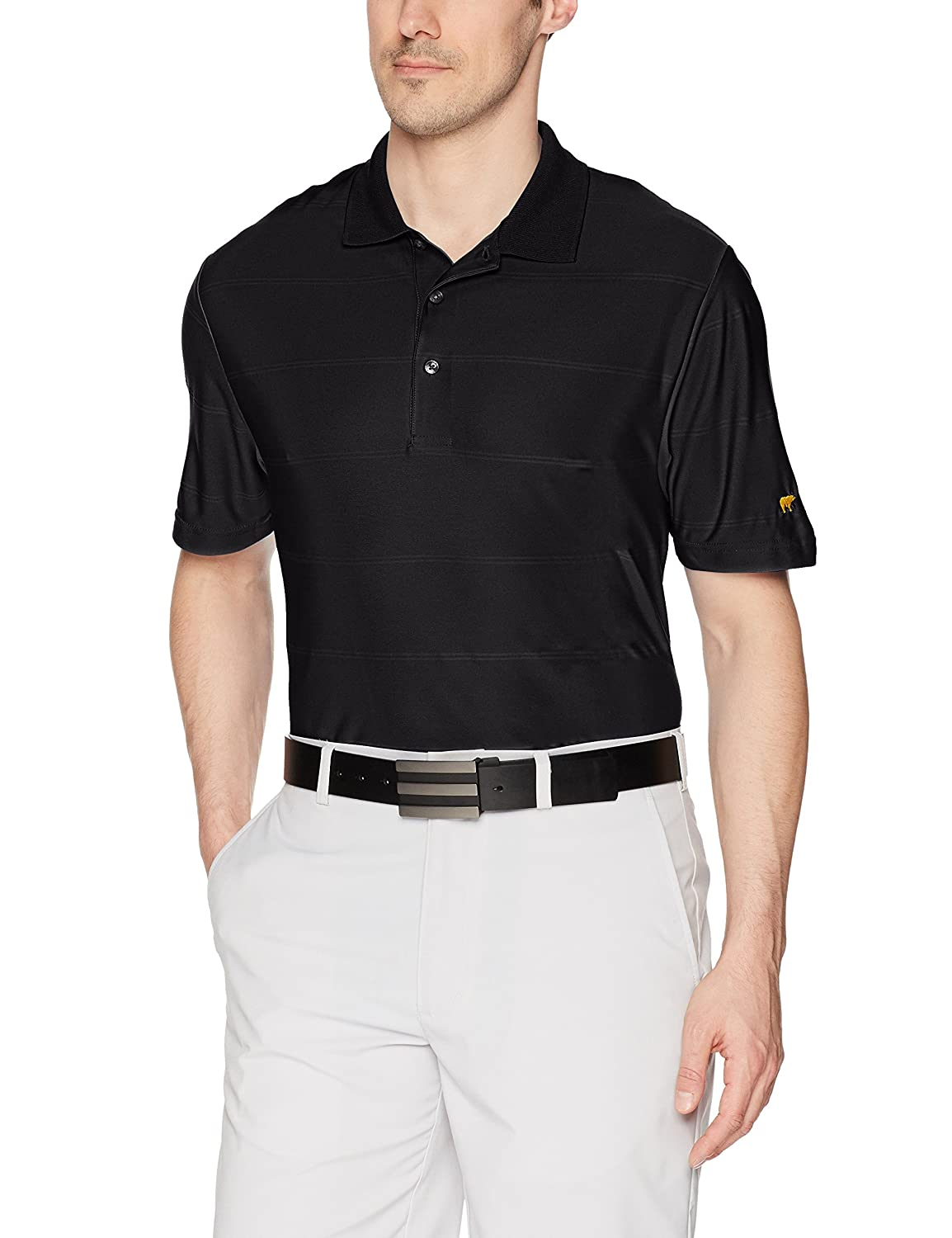Jack Nicklaus Mens Ottoman Striped Short Sleeve Polo Shirt