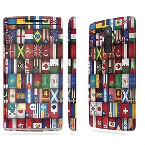 LG [G Stylo] Skin [NakedShield] Scratch Guard Vinyl Skin Decal [Full Body Edge] [Matching WallPaper] - [World Flag] for LG [G Stylo] [LS770 H631]