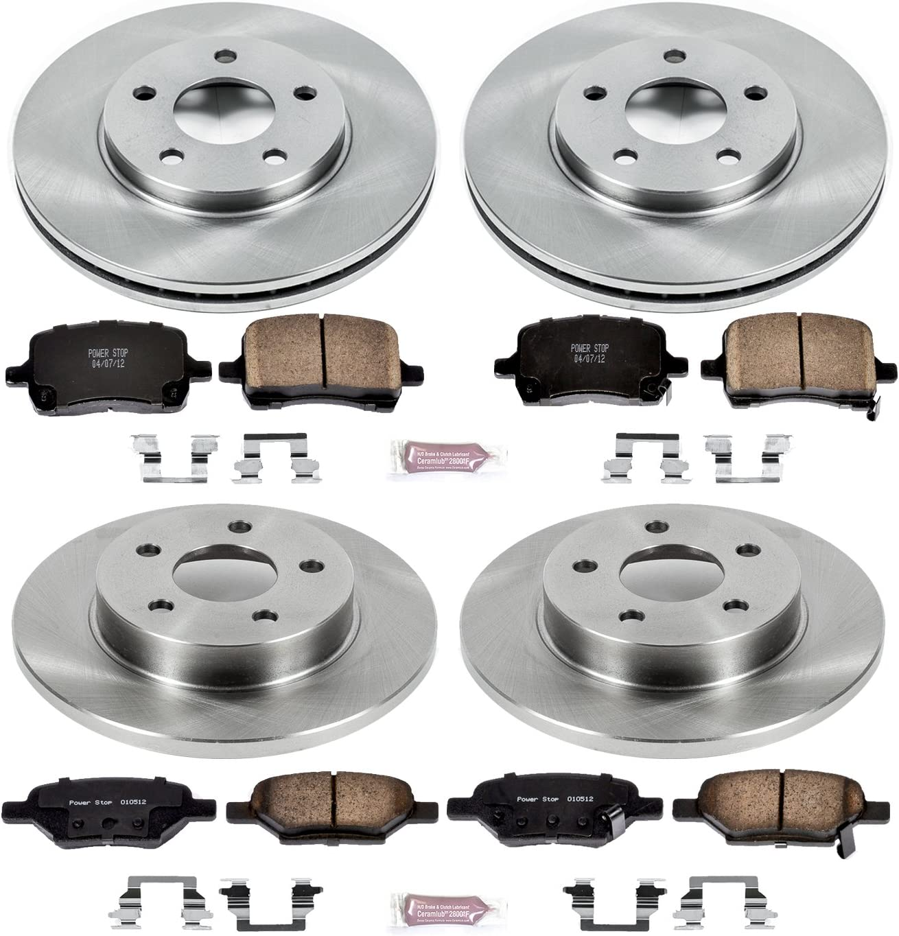 Autospecialty KOE1618 1-Click OE Replacement Brake Kit Power Stop