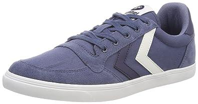 86195df0fc6 Hummel Unisex-Kinder Slimmer Stadil Low TW Sneaker, Blau (Vintage Indigo),