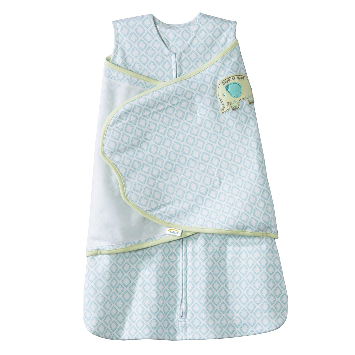 Halo Innovations SleepSack Swaddle Cotton Diamond, Turquoise, Small 3412