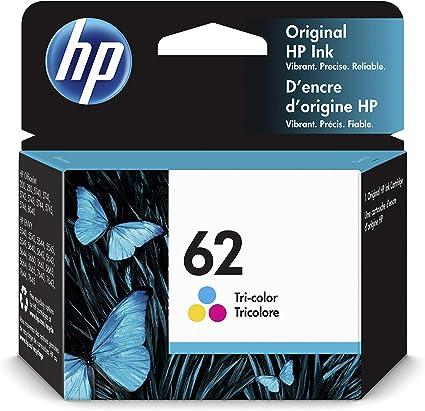 HP 62 C2P06AE, Cartucho de Tinta Original Tricolor, compatible con impresoras de inyección de tinta HP ENVY 5540, 5640, 7640;OfficeJet 200, 250, 5740: Hp: Amazon.es: Oficina y papelería