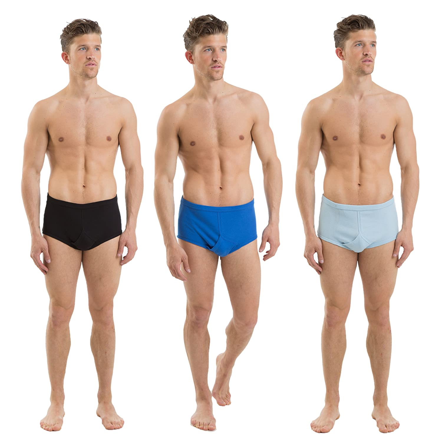 12 Pack Mens 100% Cotton Underwear Assorted Colors
