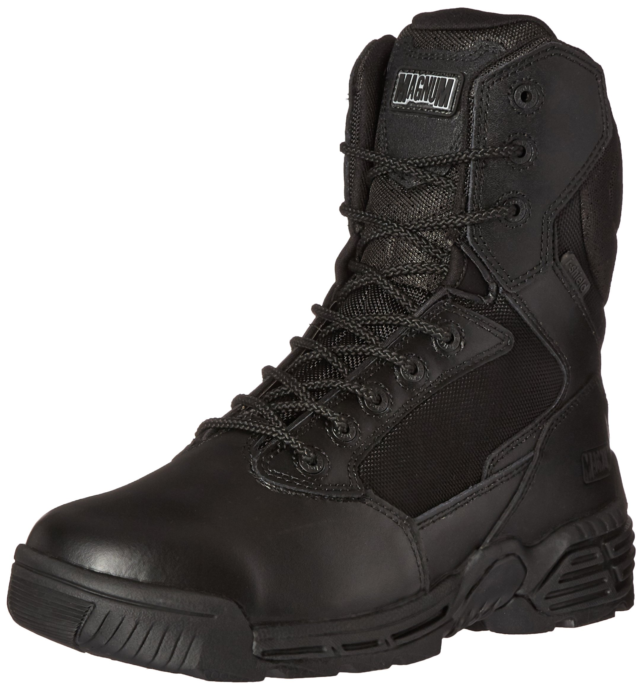 Magnum Men's Stealth Force 8.0 Side Zip Waterproof I-Shield Military and Tactical Boot, Black, 11.5 D US