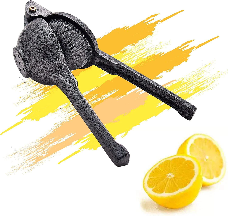 """ARC USA,J-002 Premium Cast Iron Lemon Lime Squeezer, Heavy Duty, Manual Press Lime Juicer Fresh Force Citrus Press - Super Large Bowl, Commercial Grade Unbreakable Anti-Corrosive (2.4"""")"""