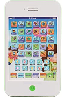 Amazon Com Discovery Kids Bilingual Teach And Talk Tablet Blue