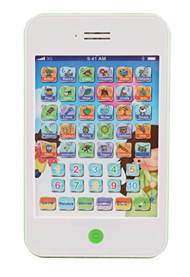 Amazon.com: Pasaca Toys Kids Learning Pad Spanish Fun Phone ...