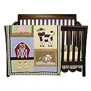 Trend Lab Baby Barnyard 3 Piece Crib Bedding Set