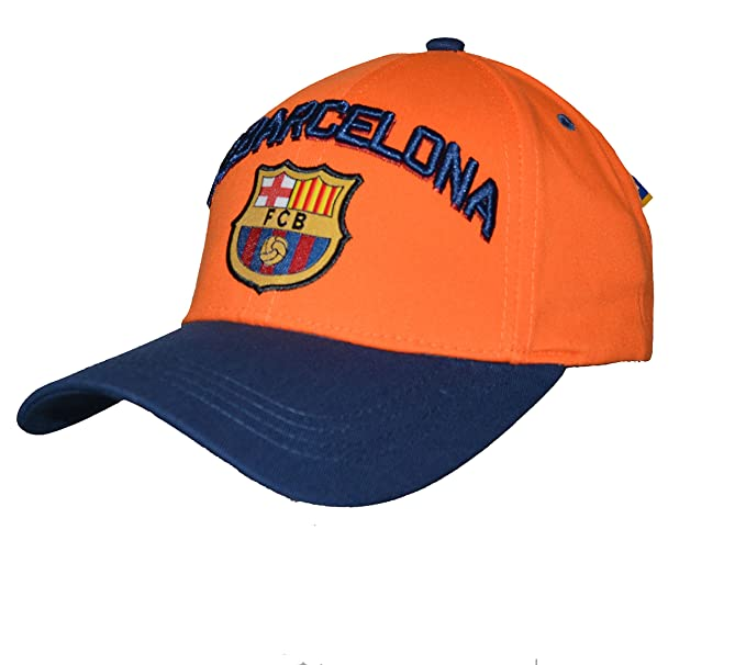 b030ac24fbb Amazon.com  Fc Barcelona Adjustable CAP Hat (Orange)  Clothing