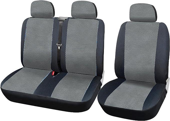 Woltu As7333 Auto Sitzbezüge Universal Größe 1 2 Sitzbezug Schonbezüge Aus Polyester Aus Polyester Schwarz Grau Auto