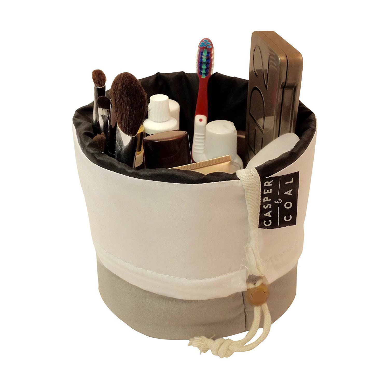 Casper & Coal Travel Cosmetic Bag - Signature Canvas Collection (Slate Grey)
