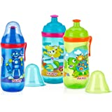 2 Pack Busy Sipper cup with Pop-Up Sipper Spout and Cover, Aqua