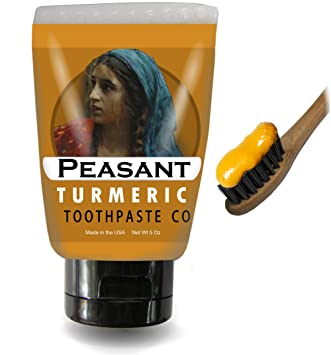 Amazon Com Peasant All Natural Turmeric Toothpaste With Peppermint