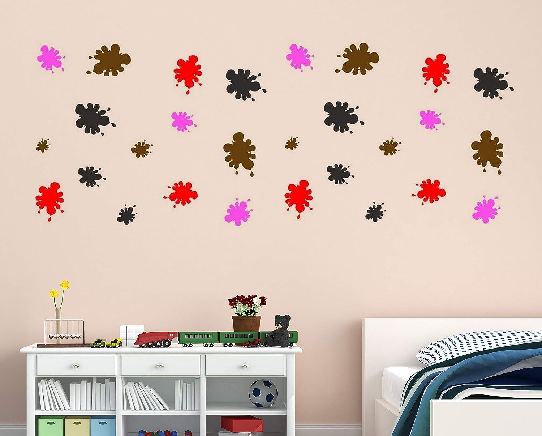 Vinyl Wall Decal Peel And Stick Splat Sticker Paintball Decor 12 Big Decals Wall Decor Stickers Amazon Com