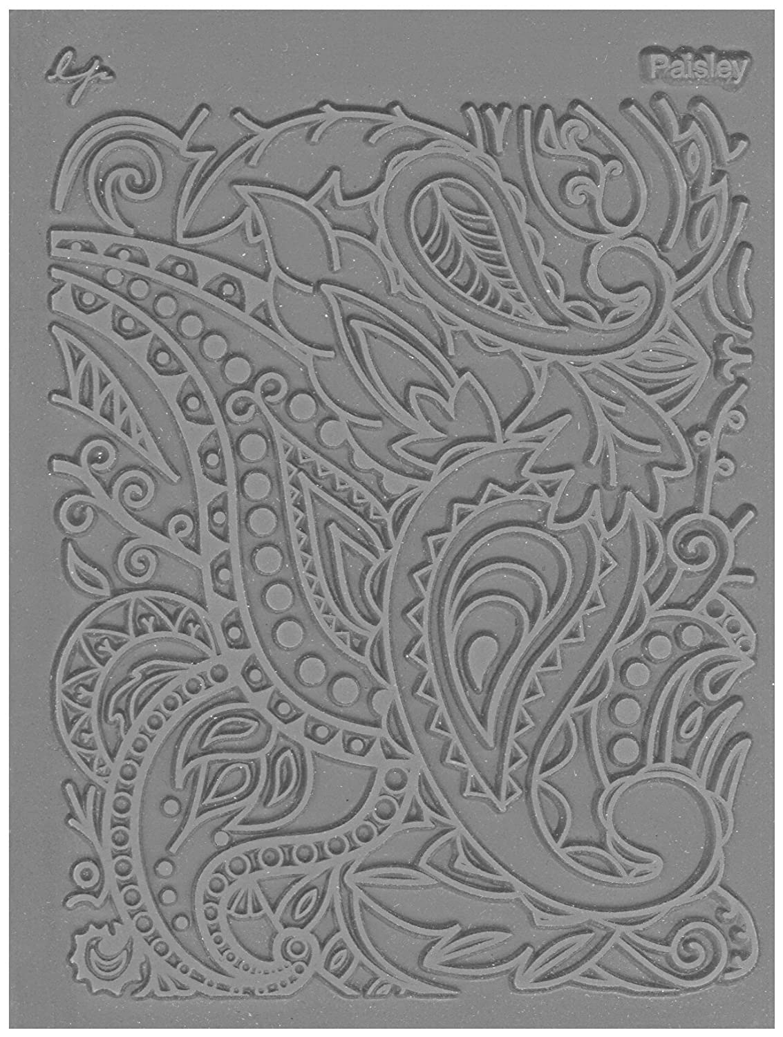 JHB International Inc Great Create Lisa Pavelka Individual Texture Stamp 4.25X5.5 1/Pkg-Paisley 527060