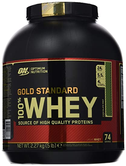 Optimum Nutrition Gold Standard 100% Whey Proteína en Polvo, Chocolate y Menta - 2270
