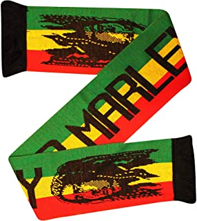 Jamaica New Bob Marley Reggae & Rasta Legend Fans Sciarpa (100% Acrilico)