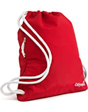 890b1b7c8059 Odyseaco Deluxe Drawstring Gym Bag- Waterproof Swimming Bag With Large Zip  Pocket Best For School