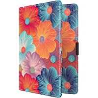 MoKo RFID Blocking Passport Holder Wallet, Multi-purpose Passport Cover Premium PU Leather Travel Wallet Case Cover - Colorful Flowers
