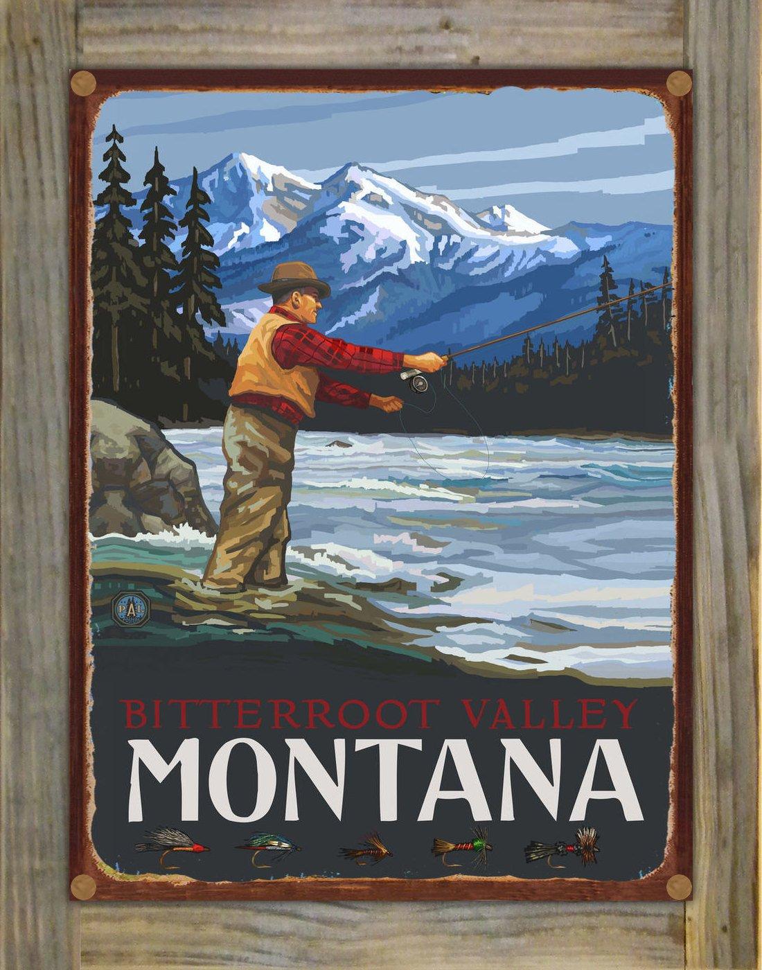 Amazon.com: Northwest Art Mall Bitterroot Valley Montana Fly ...