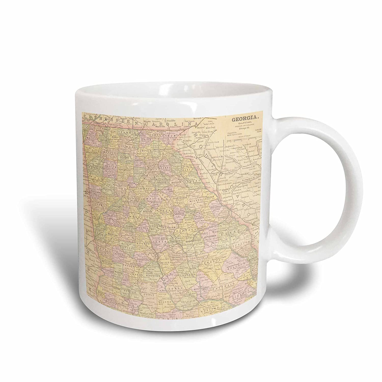 Buy 3drose 178864 2 Vintage Map Of Georgia Usa Ceramic Mug 15 Oz White Online At Low Prices In India Amazon In