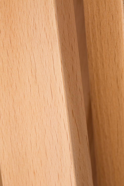 Fatti a mano luce Design a stelo lampada treppiede con tessuto di alta qualit/à paralume in tessuto rosso e treppiede//struttura in legno faggio Lampada a stelo | H=160 cm