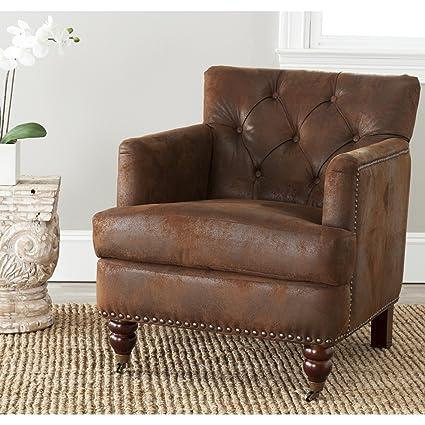 Safavieh Hudson Collection Mario Antiqued Brown Club Chair