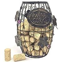 Mind Reader Barril de Vino Soporte de Corcho, Almacenamiento de Vino Soporte de Corcho, Corcho, Bronce