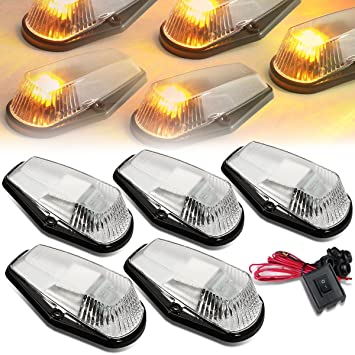Excellent Amazon Com Dna Motoring Cbl F15080 Ch Y Led Cab Roof Top Marker Wiring Cloud Oideiuggs Outletorg