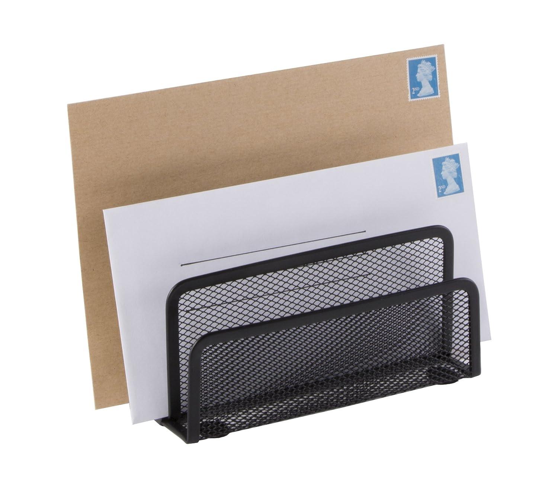 Soporte Osco para cartas, diseño de rejilla, color negro, color gris oscuro: Amazon.es: Oficina y papelería
