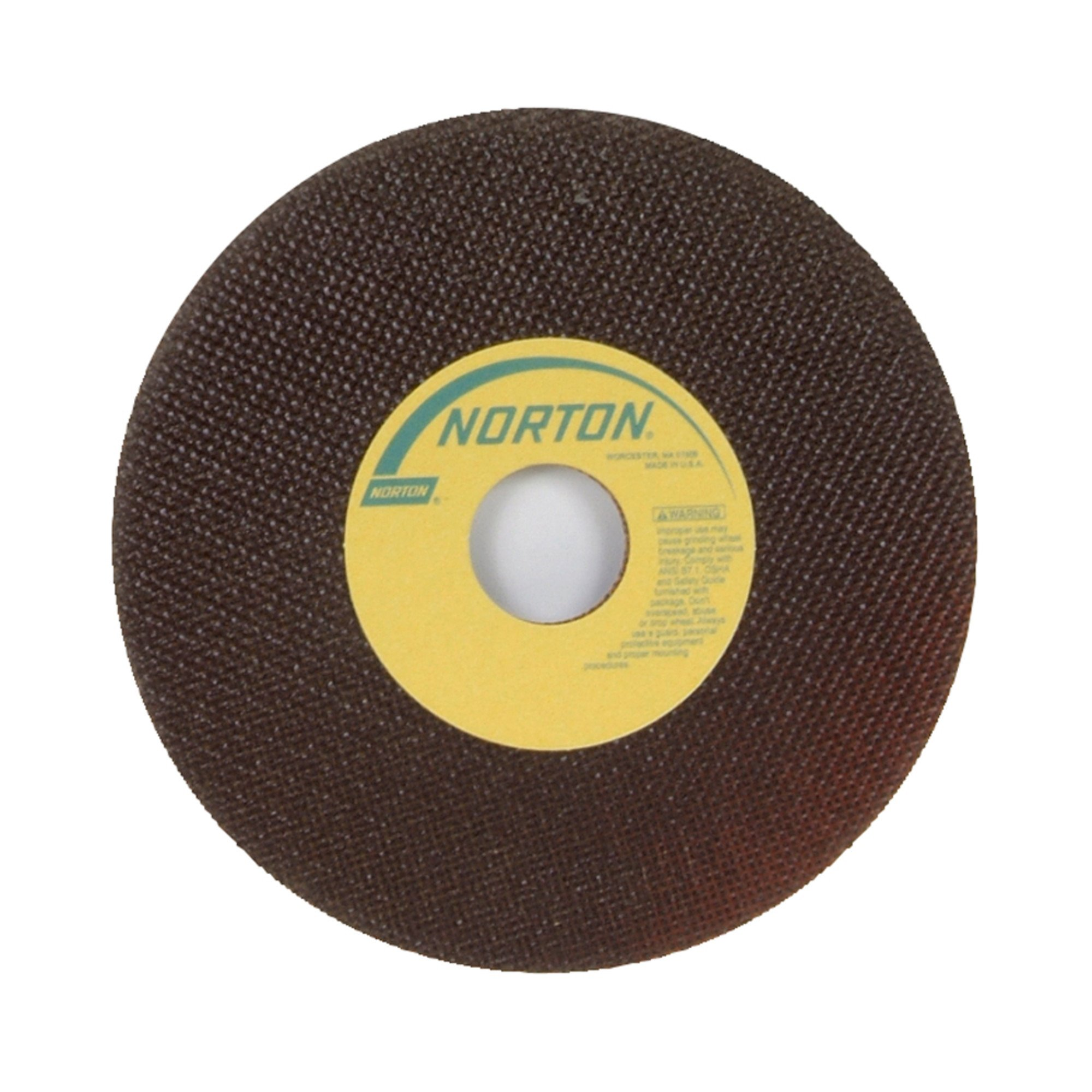 Norton Toolroom Reinforced Abrasive Cut-Off Wheel, Type 01 Flat, Aluminum Oxide, 1-1/4'' Arbor, 7'' Diameter, 0.035'' Thickness, 60 Grit (Pack of 25)