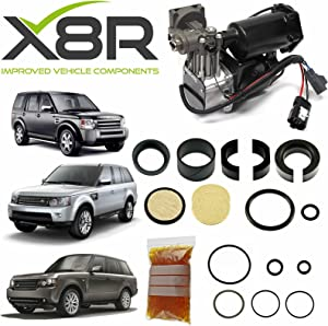 X8R AIR Suspension Compressor Repair KIT Compatible with Land Rover LR3 / Discovery 3 Part # X8R46