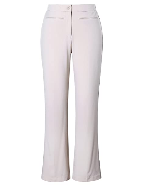 c9c018473 Chicwe Mujeres Tallas Grandes Bootcut Pantalón Ajuste Curva - Pantalones  Casuales en Oficina Beige EU58  Amazon.es  Ropa y accesorios