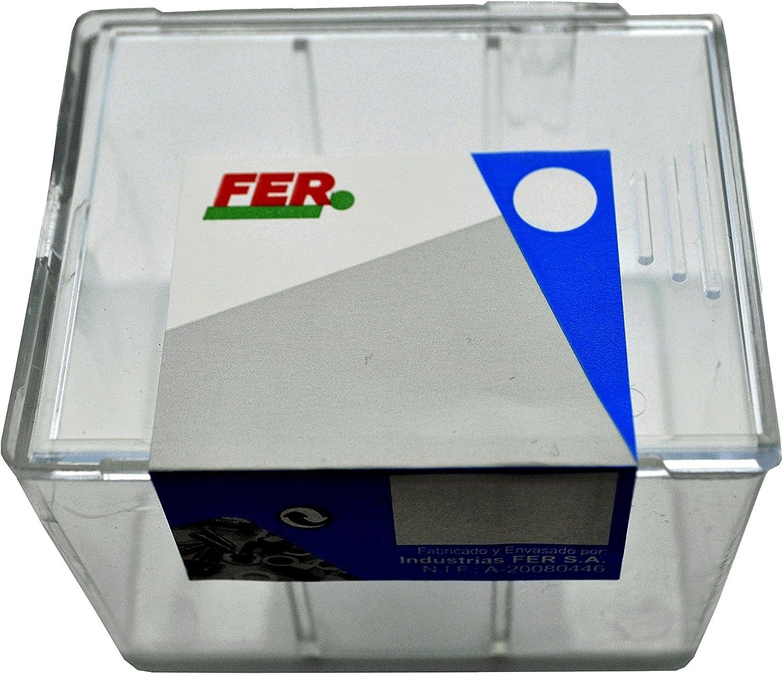 FER 43589 Caja Profesional Pl/ástico Tornillo Rosca Chapa Cabeza Alomada 4,80x32 Zincado Set de 50 Piezas