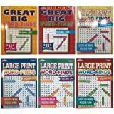 Word Search Puzzle Book Bundle (6-Pack Bundle) Easy-to-Read Large Print   80 Challenging Searching Games Each   Men…