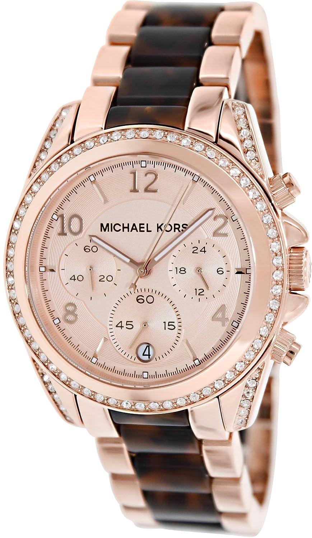 0066ad54a821 Amazon.com  Michael Kors Women s MK5859 - Blair Rosegold with Tort  Michael  Kors  Watches