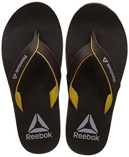76e00f1bb1e4 Reebok Men s Advent Earth Primal Yellow Flip-Flops-7 UK India (40.5 ...