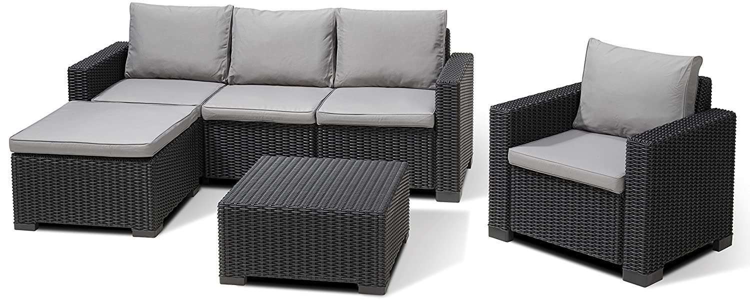 Allibert Lounge Set Moorea, Grau, 4-teilig