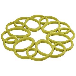 Rachael Ray Silicone Heat Resistant Multi-Use Medallion Design Trivet, Celery Green