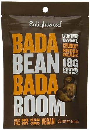 Bada Bean Bada Boom - Plant-Based Protein, Gluten Free, Vegan, Crunchy Roasted Broad (Fava) Bean Snacks, 100 Calories per Serving, Bagel, 3 oz, 6 Pack