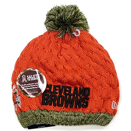 purchase cheap ee5f2 5ca96 ... get new era nfl 2015 womens salute to service knit hat osfm cleveland  browns 907f2 b179a