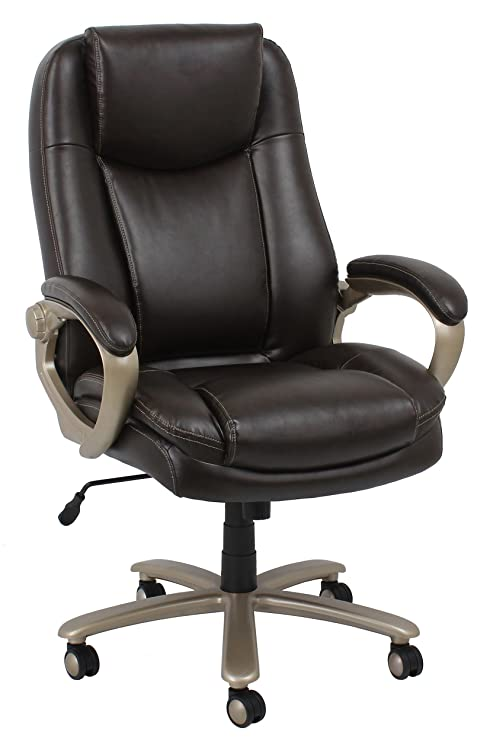 Prime Ofm Essentials Collection Big And Tall Leather Executive Office Chair With Arms In Brown Ess 201 Brn Ocoug Best Dining Table And Chair Ideas Images Ocougorg
