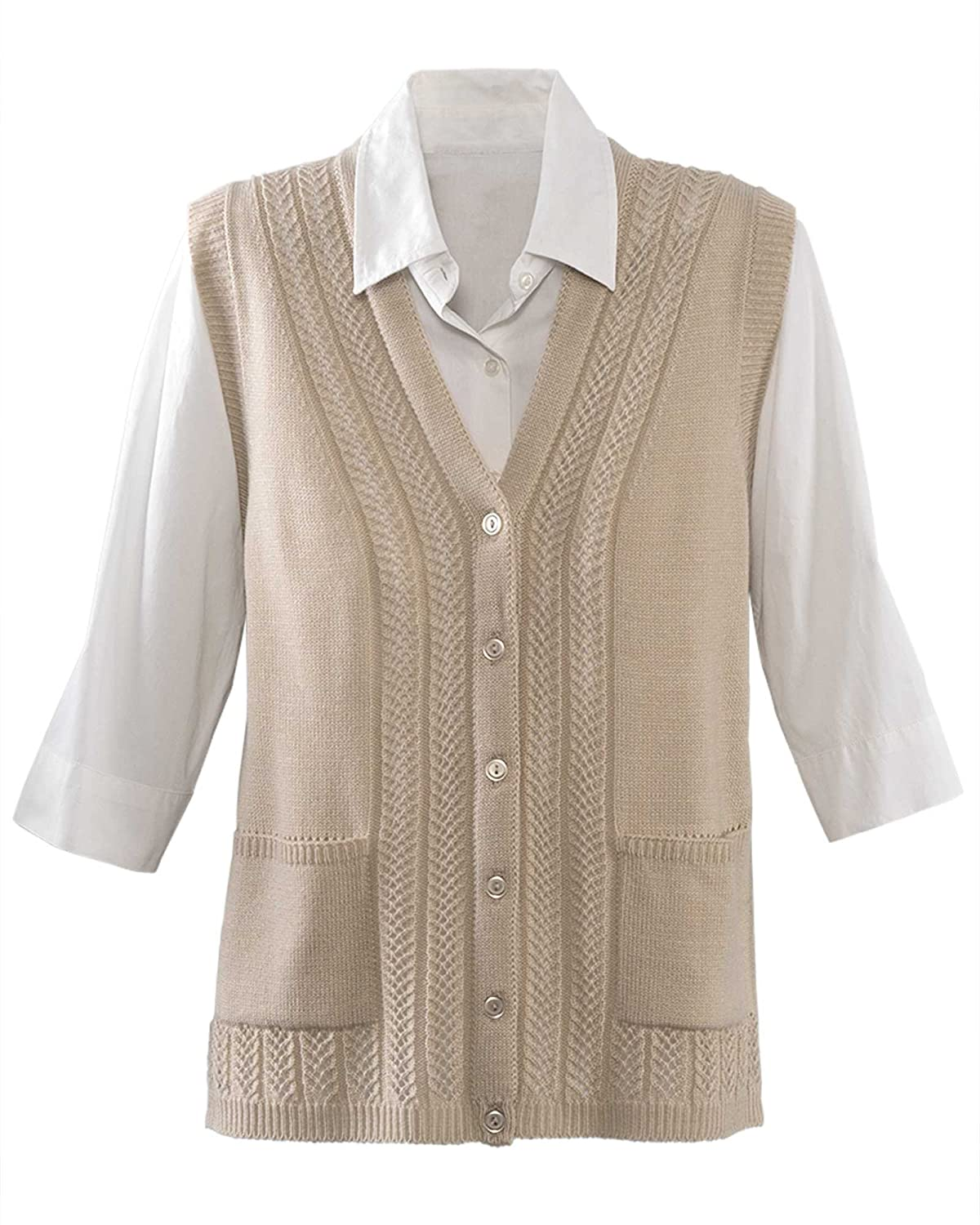 1940s Style Sweaters and Knit Tops National Classic Sweater Vest $34.95 AT vintagedancer.com