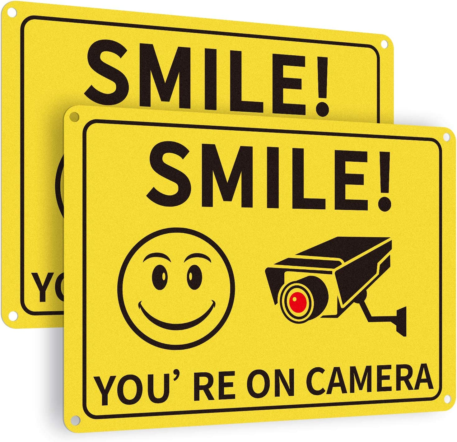 DesGully Smile You're On Camera Sign ,7