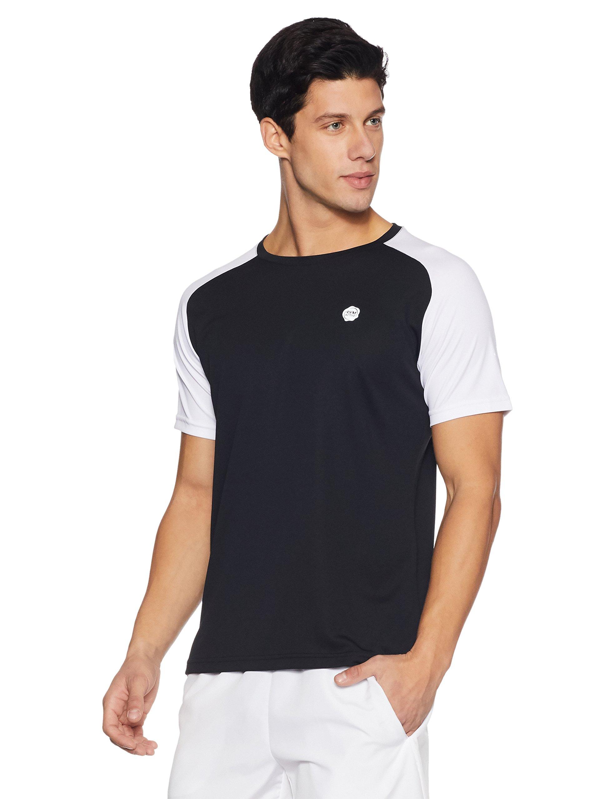 Amazon Brand - Symbol Men's Round Neck T-Shirt (AW17-SYSP-02B_Small_Black) (B072N81FKL) Amazon Price History, Amazon Price Tracker