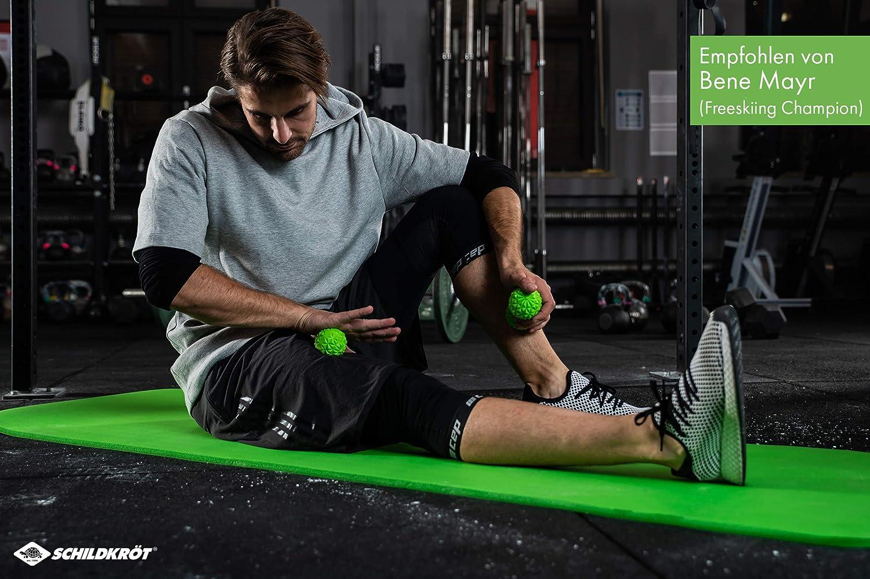 Schildkr/öt-Fitness 960151 Ballon de Massage pour Adulte avec Picots /Ø 60 mm Vert