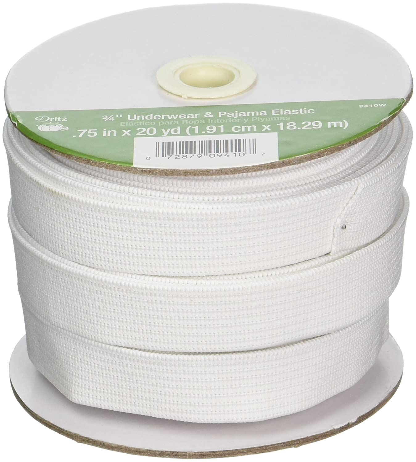 Amazon.com: Dritz 9410W Underwear & Pajama Woven Elastic, White, 3/4-Inch by 20-Yard: Arts, Crafts & Sewing