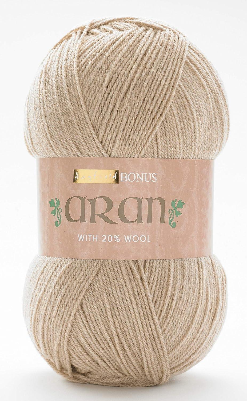 872 BARLEY Sirdar Hayfield ARAN WITH WOOL Knitting Wool Yarn 100g