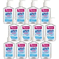 PURELL Advanced Hand Sanitizer, Refreshing Gel, 8 fl oz Hand Sanitizer Counter Top Pump Bottles (Case of 12) – 3015-12-CMR