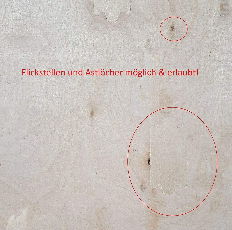 Werkbank Platte 40mm ab 100/€//qm Arbeitstisch Multiplexplatte Arbeitsplatte Birke 150 x 80 x 4 cm Multiplex Birke